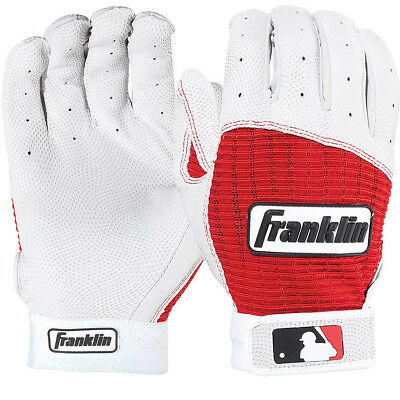 Franklin Adult Pro Classic MLB Batting Gloves - Pearl/Red