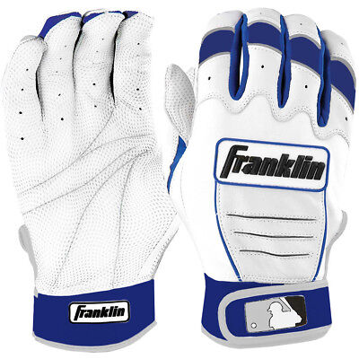 Franklin Youth CFX Pro MLB Batting Gloves - Pearl/Royal Blue