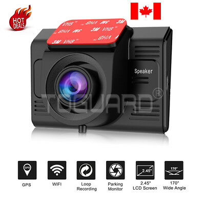 GPS and Wifi -TOGUARD Car Dash Cam Driving Camera Camcorder Dash Video Recorder