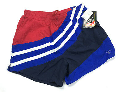 7160d6cc09 Vintage NOS USA Olympic JCPenney Red White Blue Swim Trunks Men's Large