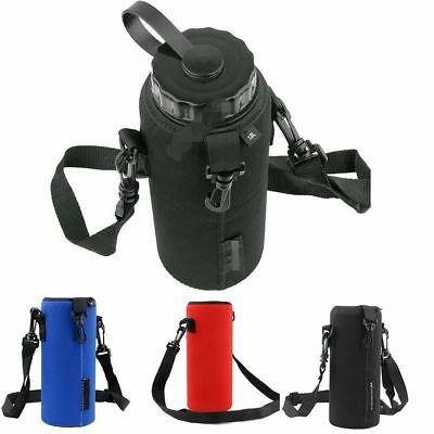 1L/1000ML Water Bottle Carrier Insulated Cover Bag Holder Strap Pouch Outdoor
