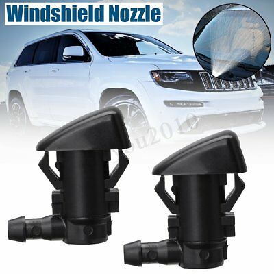 2Pcs Windshield Wiper Washer Spray Jet Nozzles For Jeep Grand Cherokee 2011-2018