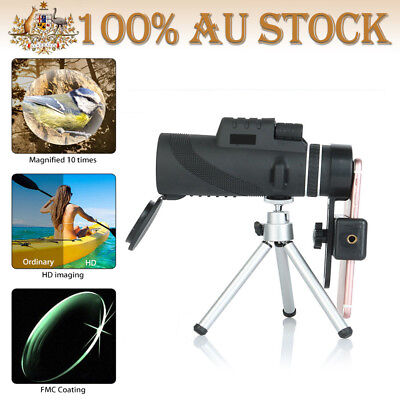 40X60 HD Zoom Optical Lens Camera Monocular Telescope+Clip+Tripod For Phone AU