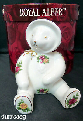OLD COUNTRY ROSES TEDDY GIRL ORNAMENT, 1st QUALITY, VGC, BOXED, ROYAL ALBERT