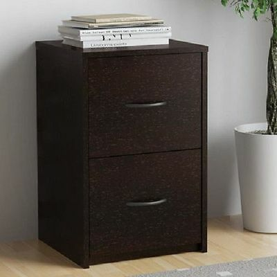 2 Drawer Ameriwood Modern Cabinet File Office Wood Storage Home Furniture Cherry