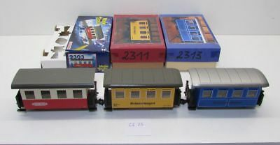 (GZ75) Fleischmann 0e Magic Train 3x Personenwagen , 2303 , 2311 , 2313