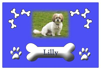Personalised rubber backed pet feeding mat