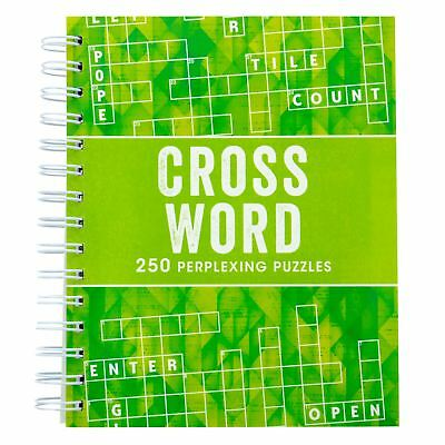 Crossword Puzzle Book 250 Grids Spiral Bound Paperback Travel Adult Beginner