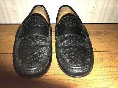 0506dfb4d9d Gucci Black Leather Blair Driving Shoe Moccasin Loafers Shoes 11 322929