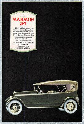 New Series Marmon 34 HAVOLINE OIL Indian Refining Company 1918 COLOR PRINT ADS