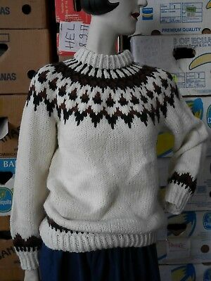Grobstrick-Pullover S/M Boho Wollpullover TRUE VINTAGE cozy knit sweater
