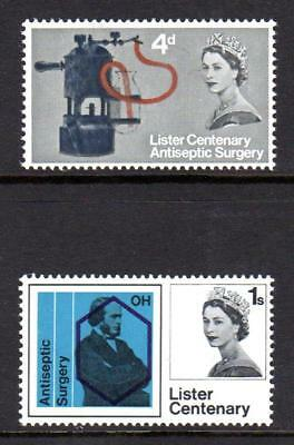 1965 GB JOSEPH LISTER ANTISEPTIC SURGERY SG 667-668 MNH Stamp Set Unmounted Mint