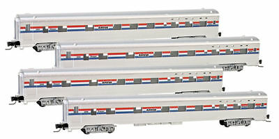 Micro-Trains MTL Z-Scale 83' Lightweight Sleeper Cars Amtrak - Runner 4-Pack