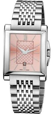 59094ca63a1 Gucci G-Timeless SWISS Pink Dial Rectangle Stainless Steel Ladies Watch  YA138502.