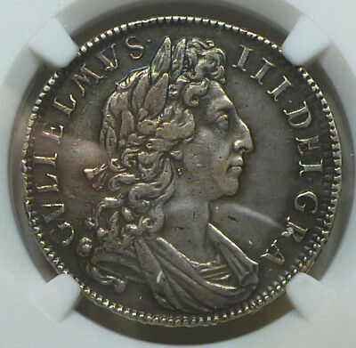 England Half Crown 1701 XF Details (Surface Hairlines) NGC