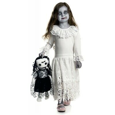 creepy doll costume kids scary halloween fancy dress
