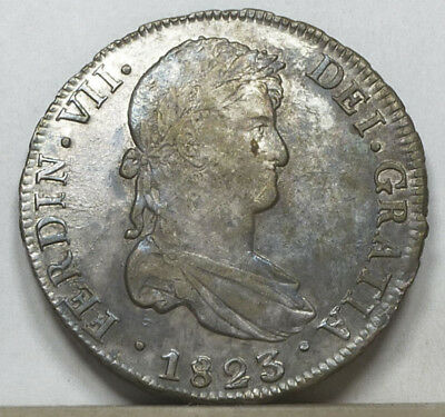 Bolivia 8 Reales 1823 PTS-PJ Extremely Fine