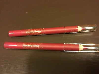 2x Estee Lauder Double Wear Stay in Place Lip Pencil 02 Fuchsia-Travel .02 oz ea