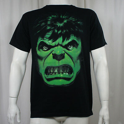Authentic MARVEL COMICS THE HULK Angry Face T-Shirt S M L XL XXL NEW