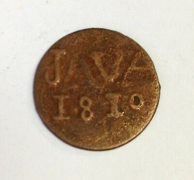 1810 JAVA LN. Duit, Dutch East Indies - Napoleonic French Occupation coin