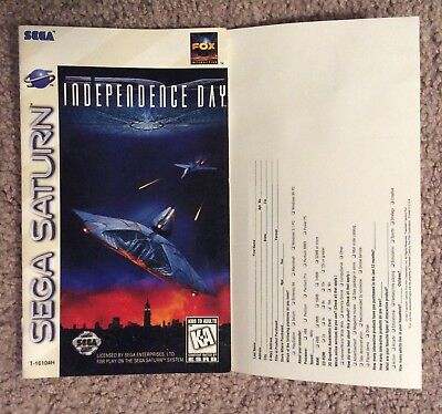Please Read Only Instruction Manual for Independence Day (Sega Saturn, 1997)