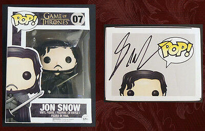 GEORGE R.R. MARTIN SIGNED - JON SNOW FUNKO POP FIGURE, Game of Thrones, New!