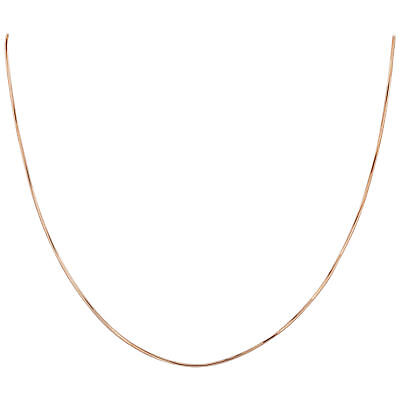 14K Rose Gold over Silver Vermeil 1mm Diamond-Cut Snake Chain Necklace