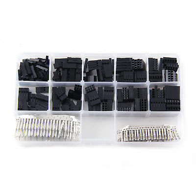Connector Set M/f 2.54mm Inch Electronics Housing Wire 0.1 Pin Header Kit Crimp