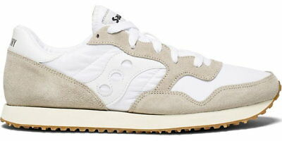 Saucony DXN Vintage Trainer in bianco/GUM RRP 74.95 BNWT