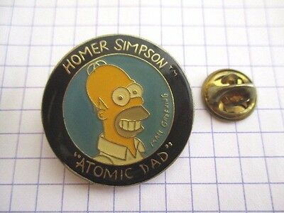 PINS RARE BD HOMER THE SIMPSONS ATOMIC DAD VINTAGE PIN'S wxc 34