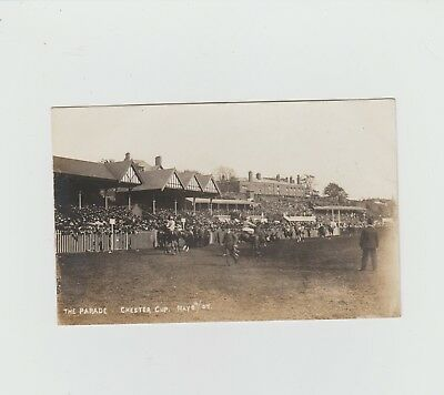 Cheshire. The Parade. Chester Cup. Race Course. 8.5.1907. Horses. Animals. Sport