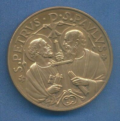 *RELIGION Catholic Pope PAUL VI St. Paul & St. Petter papal medal by GIAMPAOLI