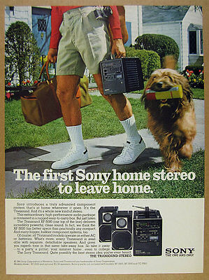 1981 Sony TRANSOUND XF-5000 Portable Stereo photo vintage print Ad