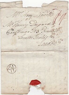# 1786 RR 160 SHEFFIELD 1st TYPE MILEAGE LONDON BISHOPMARK & POST PAID PRE-STAMP