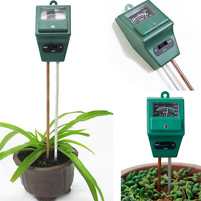 3in1 Plant Flowers Hydroponic Soil Moisture PH Light Meter Tester Newest