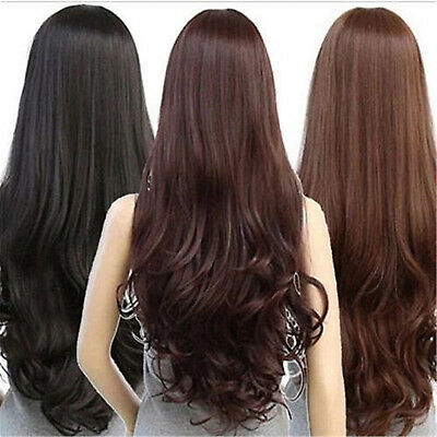 Sexy Women's Fashion Wavy Curly Long Hair Full Wigs Cosplay Party Wig 2017 NT