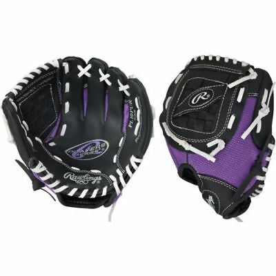 "New Rawlings Playmaker 10"" PL10PUR baseball softball RHT glove basket web purple"