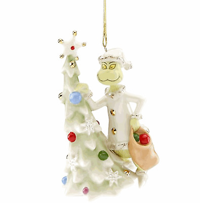 Lenox Sneaky Greedy  Grinch Ornament  New for 2018
