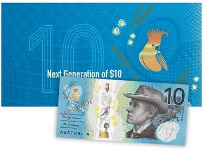 2017 RBA Next Generation of $10 Polymer Banknote Folder - Uncirculated