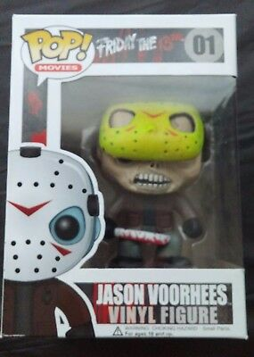 Funko Pop Friday 13th Jason Voorhees with MOVABLE hockey mask.