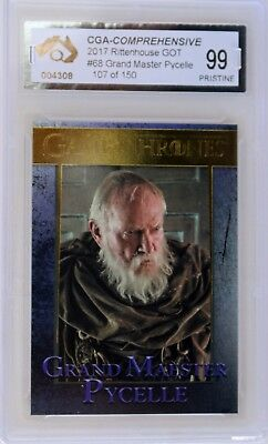 Parallel Gold Grand Master Pycelle Card Game Of Thrones Graded Pristine