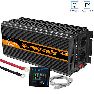 Convertisseur 24V 220V 3000W 6000W Onduleur Transformateur de tension Softstart