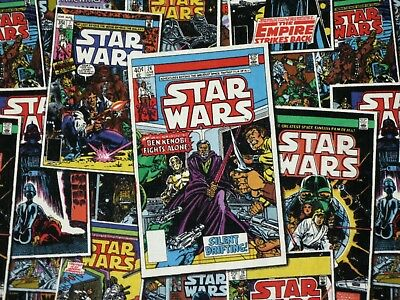 Fat Quarter  Star Wars Fabric Comic Book Covers  Darth Vader Cotton Quilting  Fq