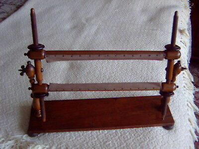 SMALL WOODEN EMBROIDERY FRAME - FREE STANDING FOR TABLE TOP - ENGLISH c1820 RARE