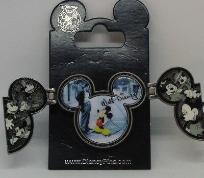 Disney Pins * 3D   MICKEY FLIP OUT MOVEABLE  ICON *  Large   Single NEW on Card