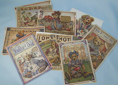 Boyds Bears Eight Greeting Cards Premiere Edition New