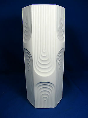 Cool 70´s Pop Art Design Kaiser Relief  Porzellan Vase 352 / 30   29,5 cm matt