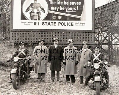 Rhode Island Motorcycle State Police Officer Photo Harley Davidson Billboard