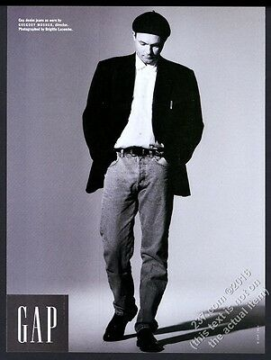 1993 Gregory Mosher photo The Gap fashion clothes store vintage print ad