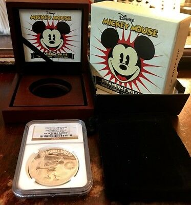 Disney Characters 2014 NIUE S$2 Steamboat Willie Mickey NGC PF70 Ultra Cameo